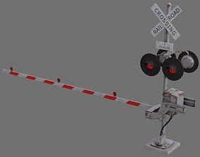 Railroad Crossing 1B 3D model