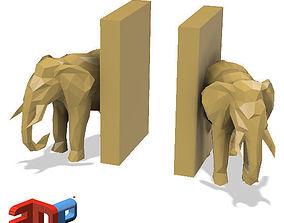3D print model Elephant desktop bookends