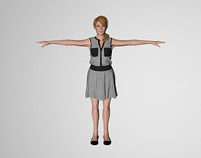 Rigged Female Model Paula 3D