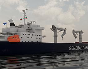 Cargo Ship 1 3D asset
