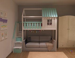 Baby bed 5 3D model