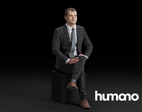 Humano Sitting man 0615 3D