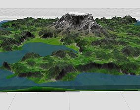3D asset 75km Playable Mountain Map