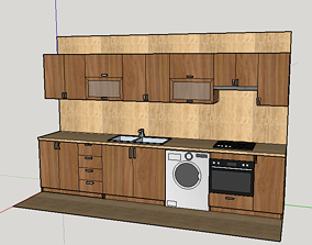 3D model very interesting kitchen