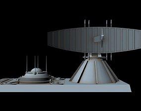 3D model Sci-fi Radar station 2