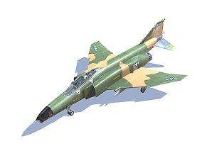 3D asset F-4 Phantom II