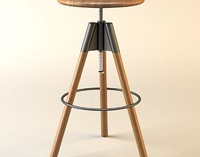 3D model adjustable bar stool