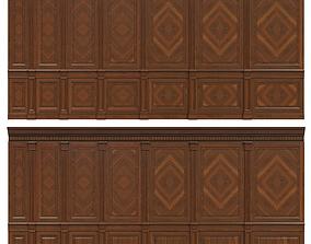 Wood panels with veneer 02 3D model realtime