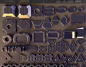 3D Hard Surface Kitbash 04 - Subdiv-Ready