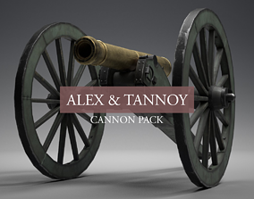 1835 Field Cannon Pack 3D