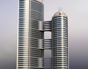 3D Twin Tower Office Building