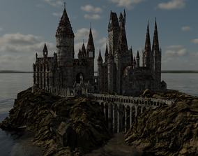 Hogwarts 3d Model low-poly