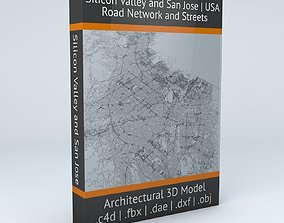 Silicon Valley and San Jose Road Network and Streets 3D