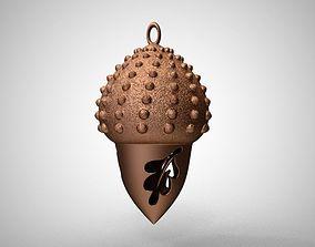 3D print model Acorn Necklace