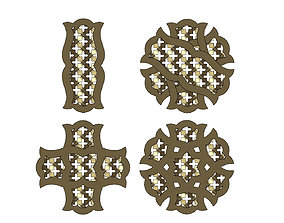 Arabian pendant with moucharabieh 3D printable model
