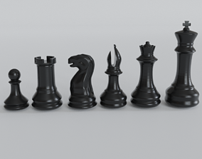 chess pawn knght rook queen king Bishop 3d print
