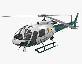 3D asset AS-350 Miami Dade Police