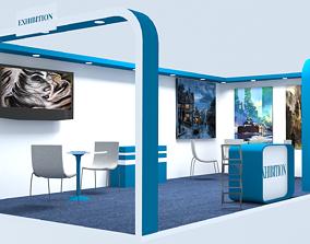 Exhibition Stall 3D asset