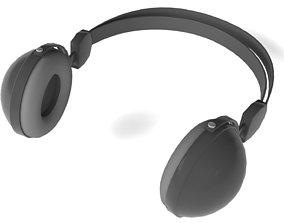 Headphone 3D asset low-poly