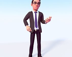 CARTOON OFFICE MAN 3D model