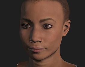 Black Girl Head 3D asset