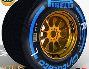 3D model E23 Wet Rear tyre