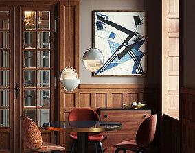 Vintage room by Gubi interior scene 3D model