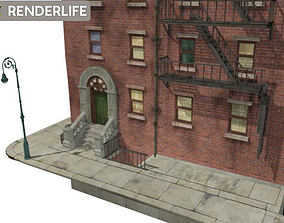 3D model Corner Tenement