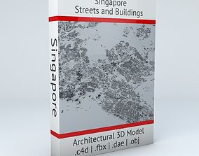 3D Singapore Streets and Buildings