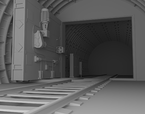 Sealed gates in the subway 3D model