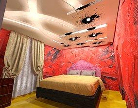 Bedroom false ceiling 3D model