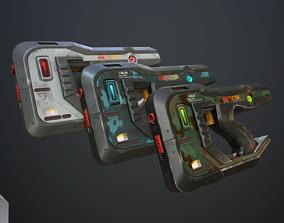 3D asset Sci-fi pistols vol pack