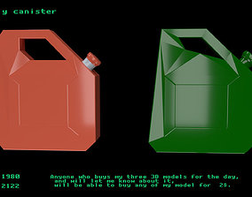 Low poly canister 3D asset