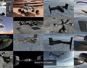 3D model PBR Space kit