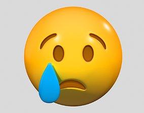 3D Emoji Sad but Relieved Face