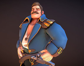 3D model rigged Seafarer The Captain