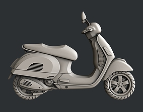 scooter 3d STL models for CNC router Scooter