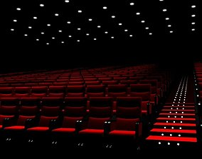 Movie Theater with screen 3D model