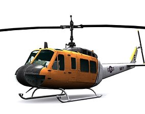 Rescue helicopter uh 1 3D model