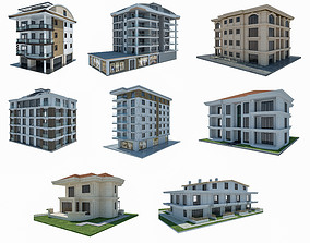 architecture 3D model City Buildings