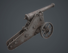 3D model cannon Chernihiv