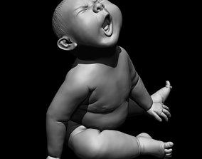Angry baby 3D printable model