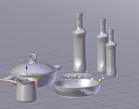 Metal Kitchenware 3D model