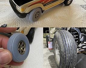 3D printable model Offroad Desert Balloon Tires Tyres