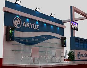 3D model Akyuz Exhibition Stand