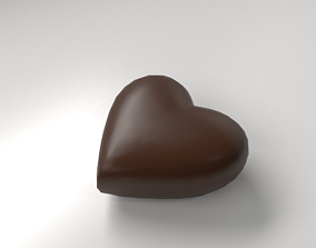 3D model Milk Heart Shape Chocolate