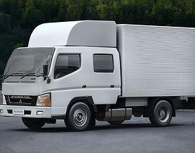 heavy Mitsubishi Fuso Crew Cab 3D