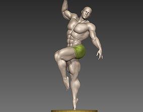 Body builder ballet poses N9 3D print model