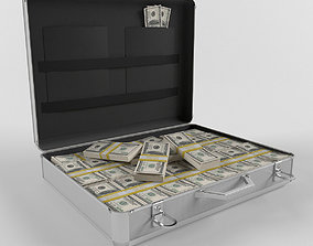 suitcase with money 3D model