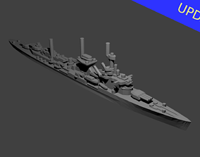 German Leipzig Class Cruiser Warship 3D print model